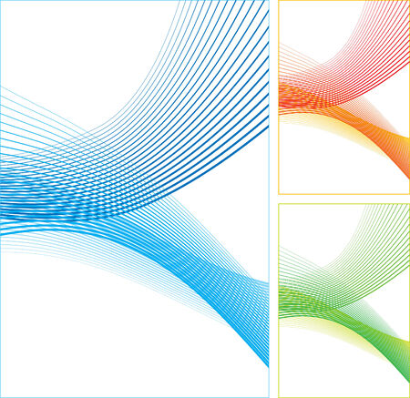 Abstract horizontal color lines on white background. illustration.