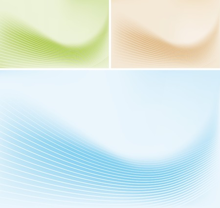 Abstract lines on gradient background Illustration