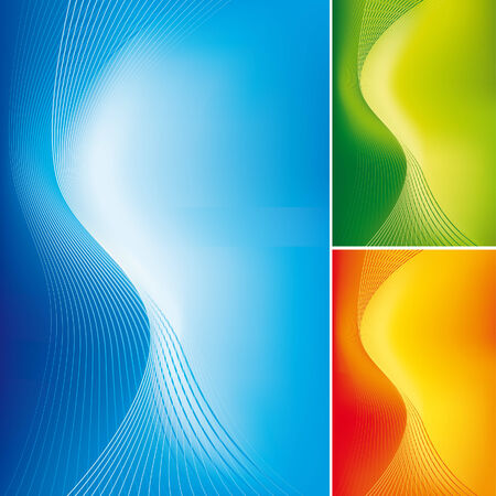 Abstract lines on gradient background 1 Illustration