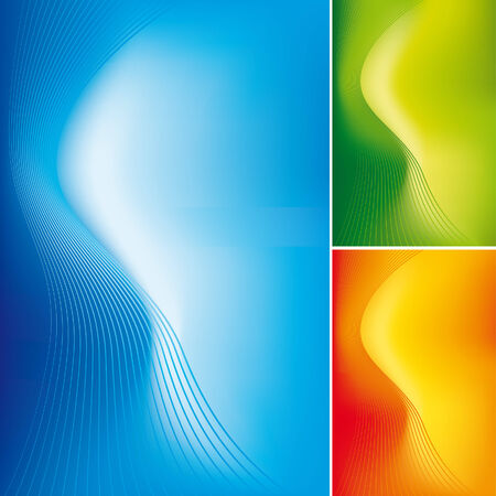 Abstract lines on gradient background 2