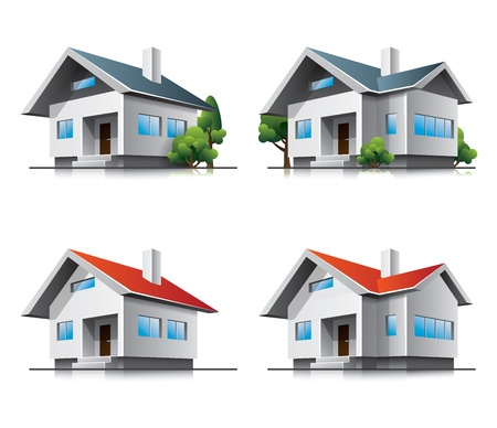 Two different family houses Vector
