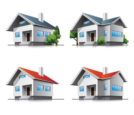 Zwei verschiedene Einfamilienhäuser
