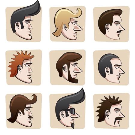 Cartoon men heads