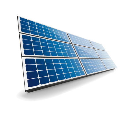 分離の太陽電池パネル  イラスト・ベクター素材