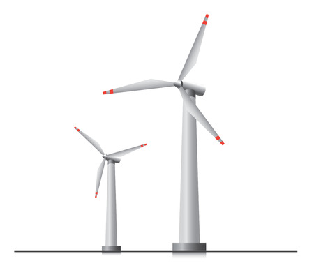 Two isolated wind turbines
