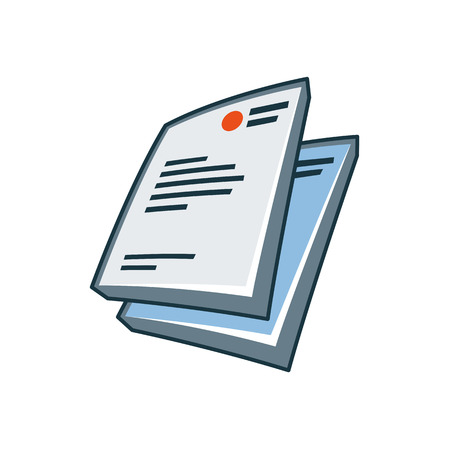 Simplified letterheads icon in cartoon style  Print publishing icon series