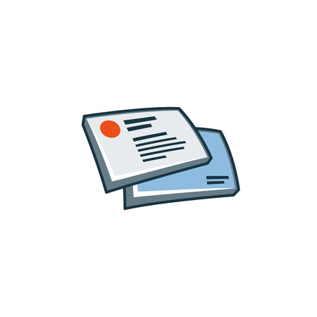 Simplified business cards icon in cartoon style  Print publishing icon series