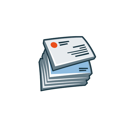 Simplified isolated business cards icon in cartoon style  Print publishing icon series