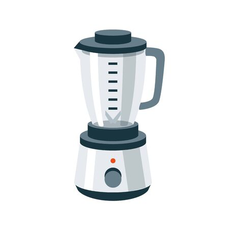 kitchen equipment: Vector illustration of isolated kitchen blender mixer food grinder in cartoon style.