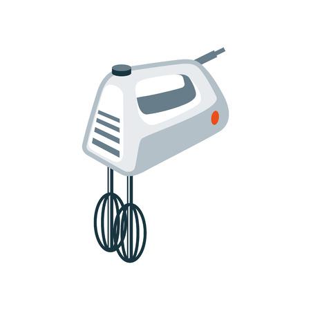 cocina caricatura: Ilustraci�n del vector de aislados batidora de mano cocina de la casa en estilo de dibujos animados.