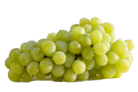sauternes: Vine grapes isolated on white background