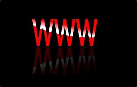 website wide window world write www: www Illustration