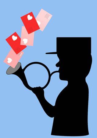 Postman silhouette Vector