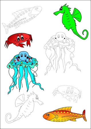 Coloring book-fish Stock Vector - 6427832