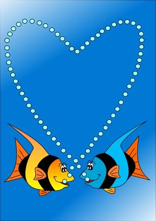 Love-fish Stock Vector - 6441031