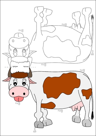 pastoral: Coloring book - cow Illustration