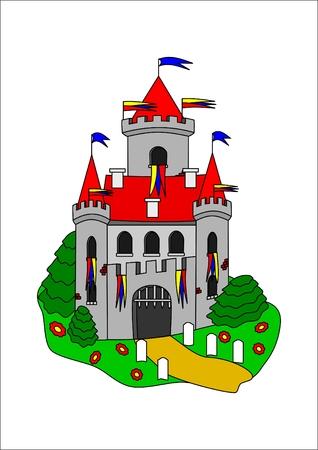 Fairytale castle Ilustração