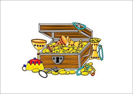 Open pirate treasure photo