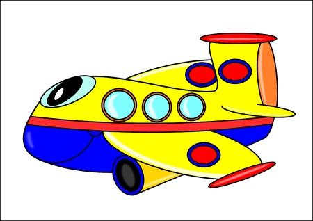 Funny plane for Children  Vector