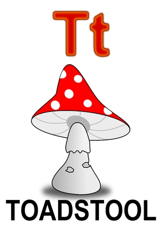 a toadstool: Letter