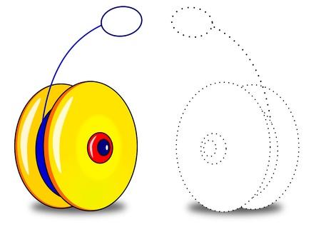play yoyo: Yo, yo coloring book Illustration