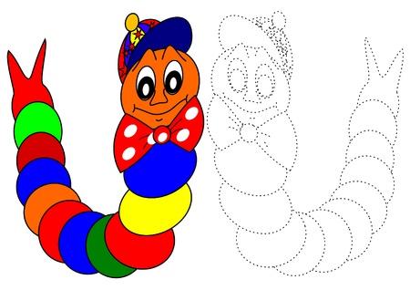regenworm: Kleurboek-rups