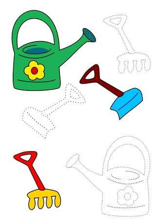 bucket and spade: Coloring book - sand toys