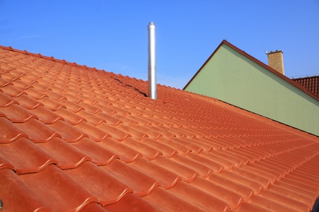 roof tile: Roof and chimney