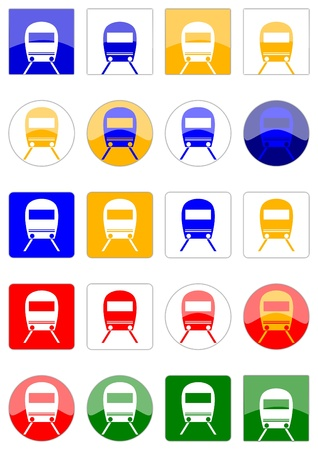icons locomotive Stock Vector - 11958788