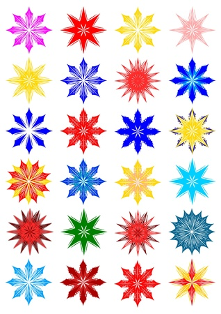 Colored snow flakes Stock Vector - 11958790