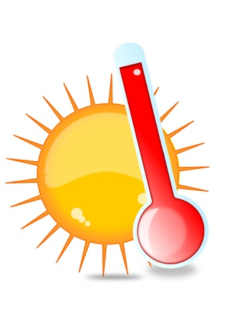 heat radiation: Sun and thermometer