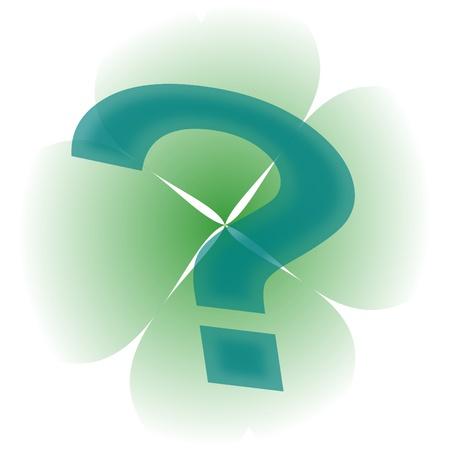 fourleaf: Four-leaf clover and a question mark