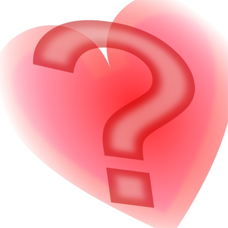 Heart and question mark Vector
