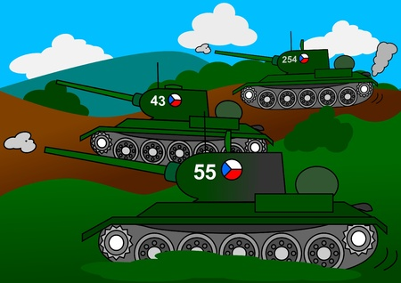 gun room: Three tanks attack cess as an illustration