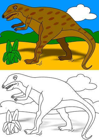 Dino - coloring book Vector