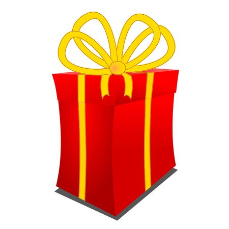 A large red gift package as an illustration  Stock Vector - 12175653