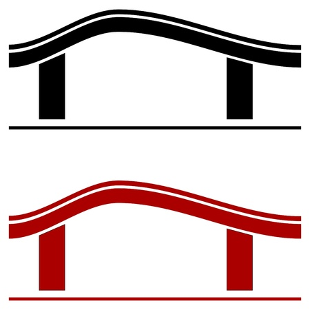 residential homes: The house roof as a logo - Illustration