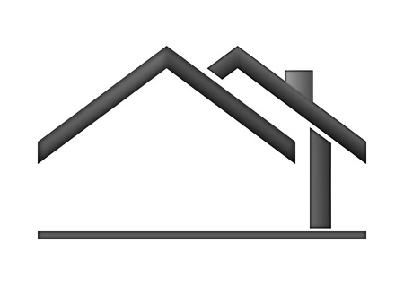 roof house: The house roof as a logo - Illustration