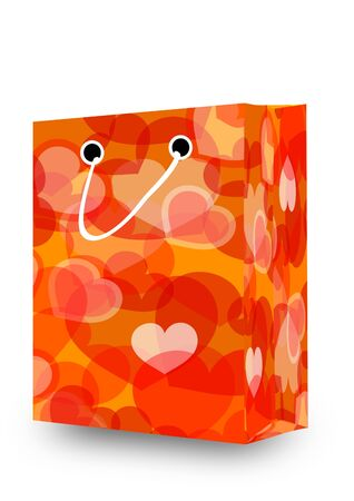 Shopping cart full of hearts - Valentines Day - Illustration  Vector