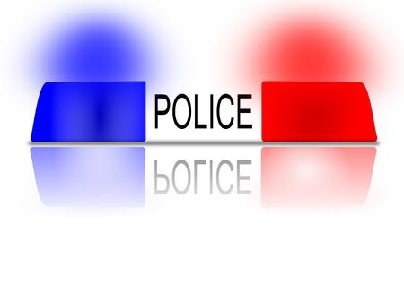 De knipperende politie baken als een illustratie Stock Illustratie