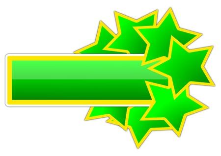 実例として、星と緑と黄色のアイコン