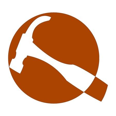 ロゴの大工とジョイナ - ハンマー - イラスト