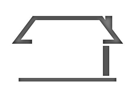 casa logo: Il tetto della casa come un logo - Illustrazione