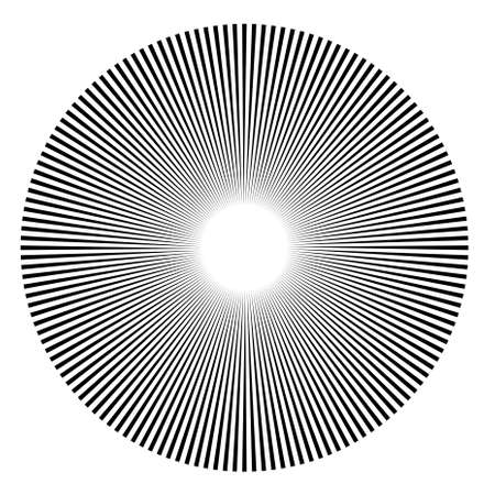 Circle consisting of many lines as an illustration Vector