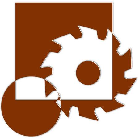 Logo voor timmerlieden en schrijnwerkers - zaagblad - Illustratie Logo