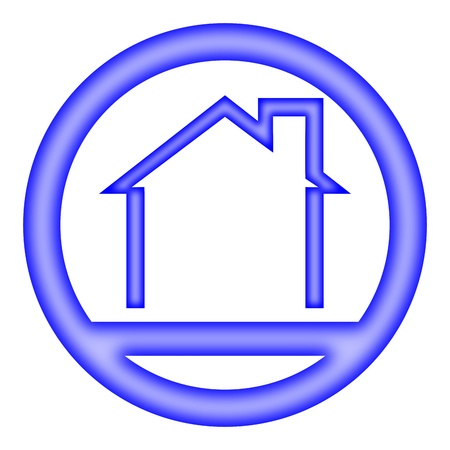 Logo - a house with a gable roof - Illustration Vector