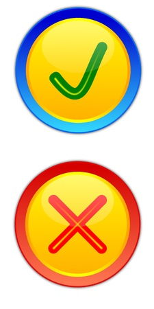 Two buttons off and stop as an illustration Stock Vector - 12798079
