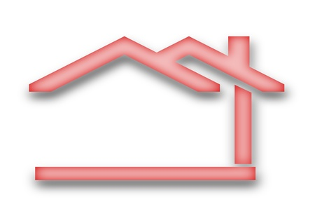 The house with a gable roof as an illustration Vector