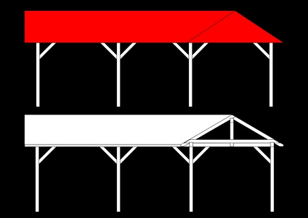 Shelters for the car as an illustration Vector