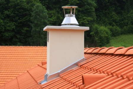 roof structure: Roof and chimney